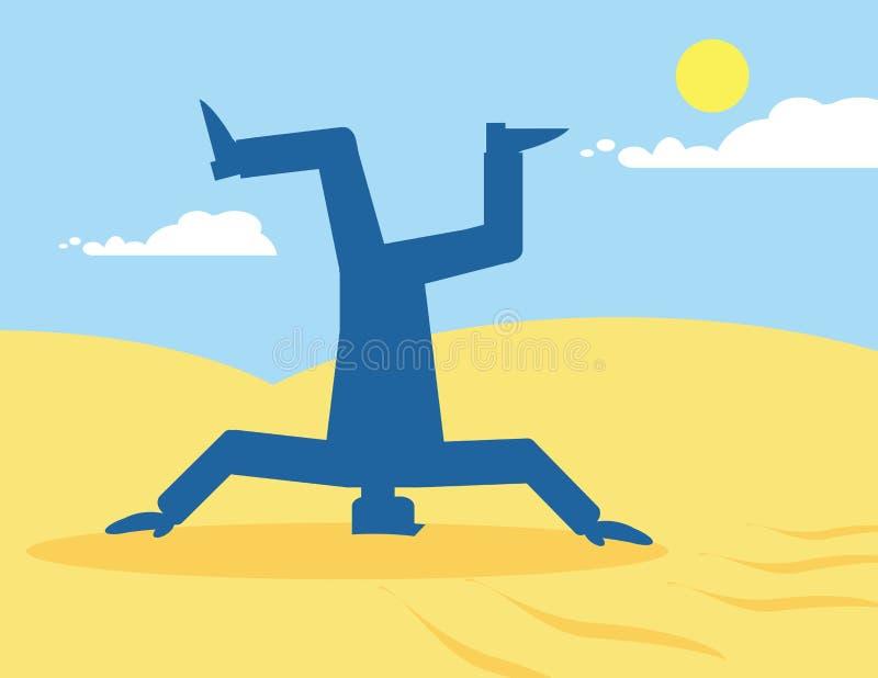 επικεφαλής άμμος ελεύθερη απεικόνιση δικαιώματος