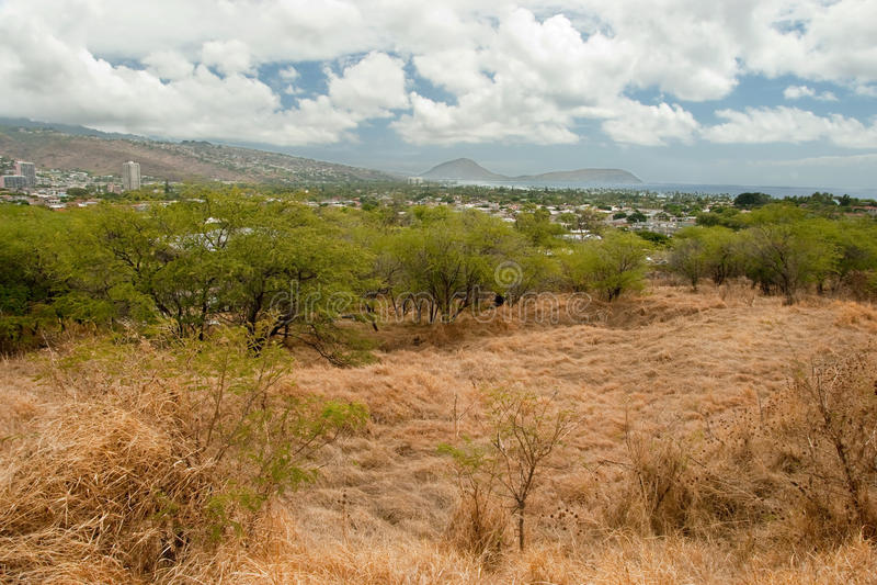 Επικεφαλής ίχνος στενή Χονολουλού πάρκων κρατικών μνημείων διαμαντιών Oahu εκτάριο στοκ φωτογραφίες