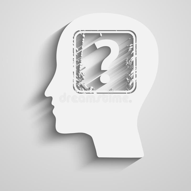 επικεφαλής ανθρώπινη ερώτ& απεικόνιση αποθεμάτων