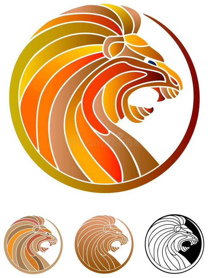 επικεφαλής λιοντάρι διανυσματική απεικόνιση