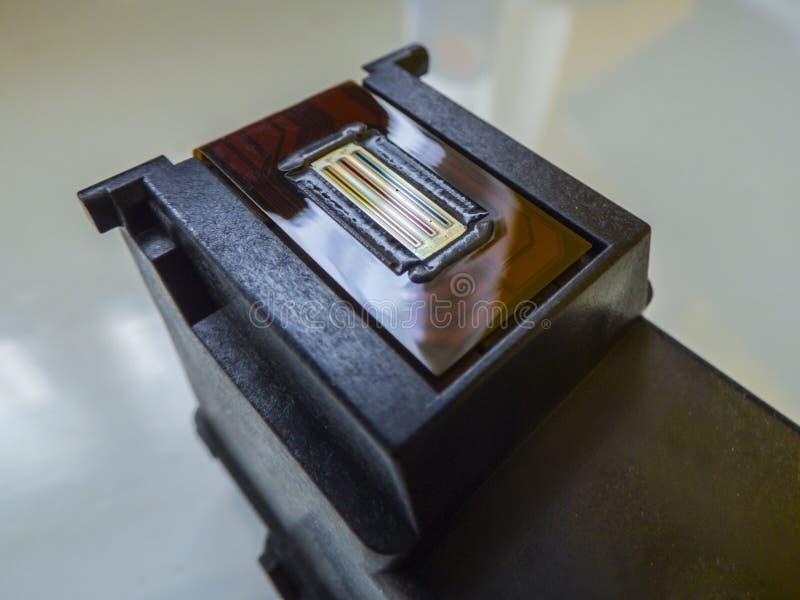 Επικεφαλής κασέτα Inkjet εκτυπωτών χρώματος στοκ φωτογραφίες με δικαίωμα ελεύθερης χρήσης