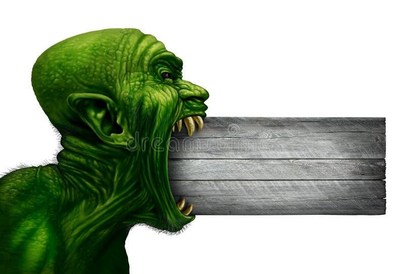 Επικεφαλής κενό σημάδι Zombie διανυσματική απεικόνιση