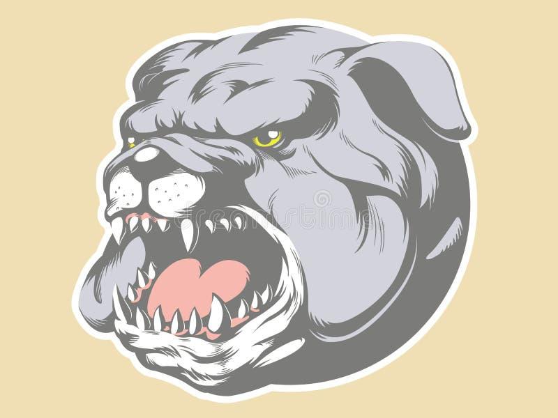 Επικεφαλής κινούμενα σχέδια σκυλιών του Bull ελεύθερη απεικόνιση δικαιώματος