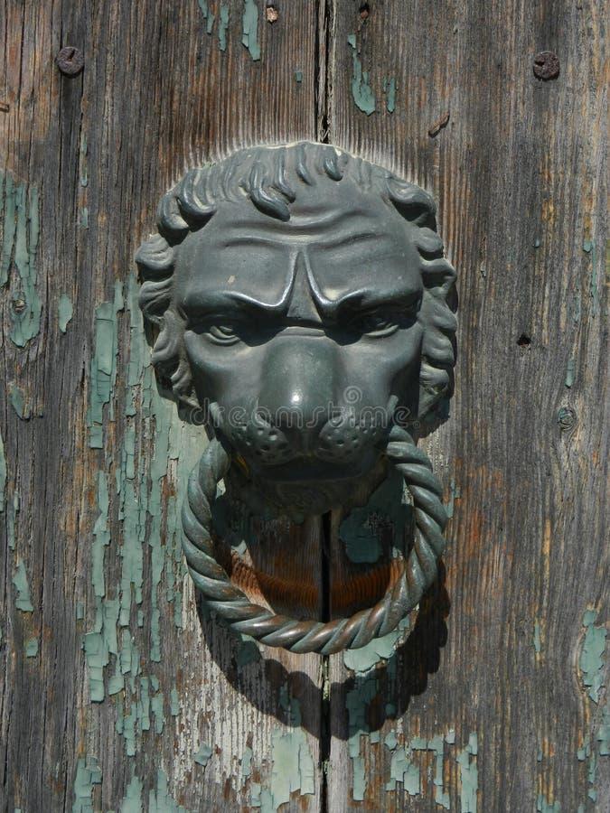 Επικεφαλής κτύπος πορτών λιονταριών στοκ φωτογραφίες με δικαίωμα ελεύθερης χρήσης