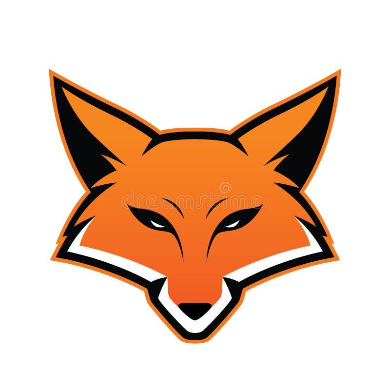 Επικεφαλής μασκότ αλεπούδων απεικόνιση αποθεμάτων
