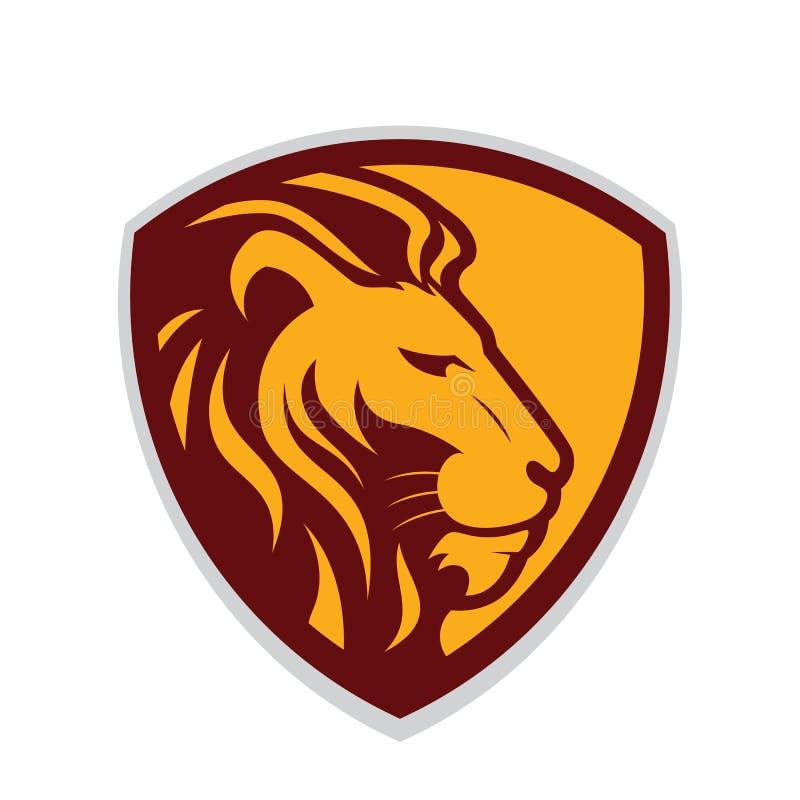 Επικεφαλής μασκότ λιονταριών διανυσματική απεικόνιση