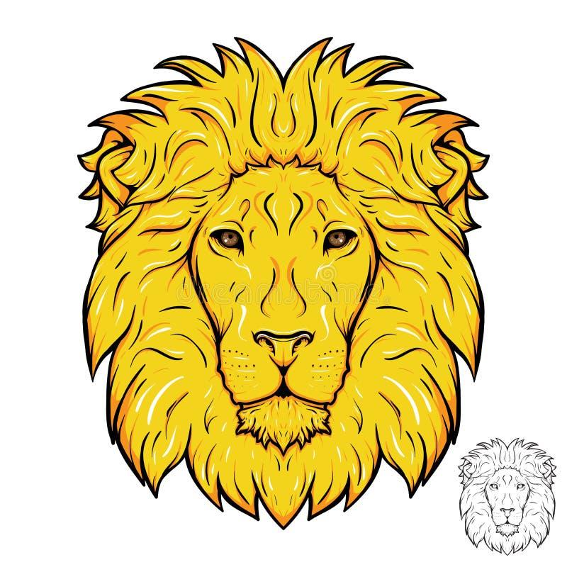 Επικεφαλής λογότυπο λιονταριών απεικόνιση αποθεμάτων