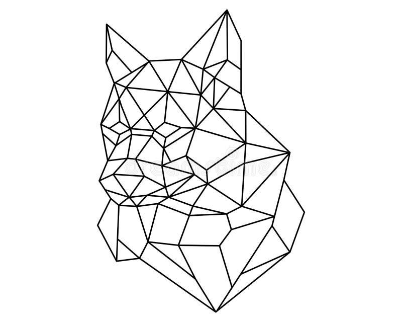 Επικεφαλής πολύγωνο αλεπούδων διανυσματική απεικόνιση