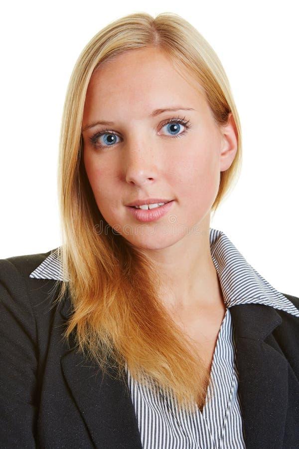 Επικεφαλής πυροβολισμός της νέας επιχειρησιακής γυναίκας στοκ εικόνα με δικαίωμα ελεύθερης χρήσης