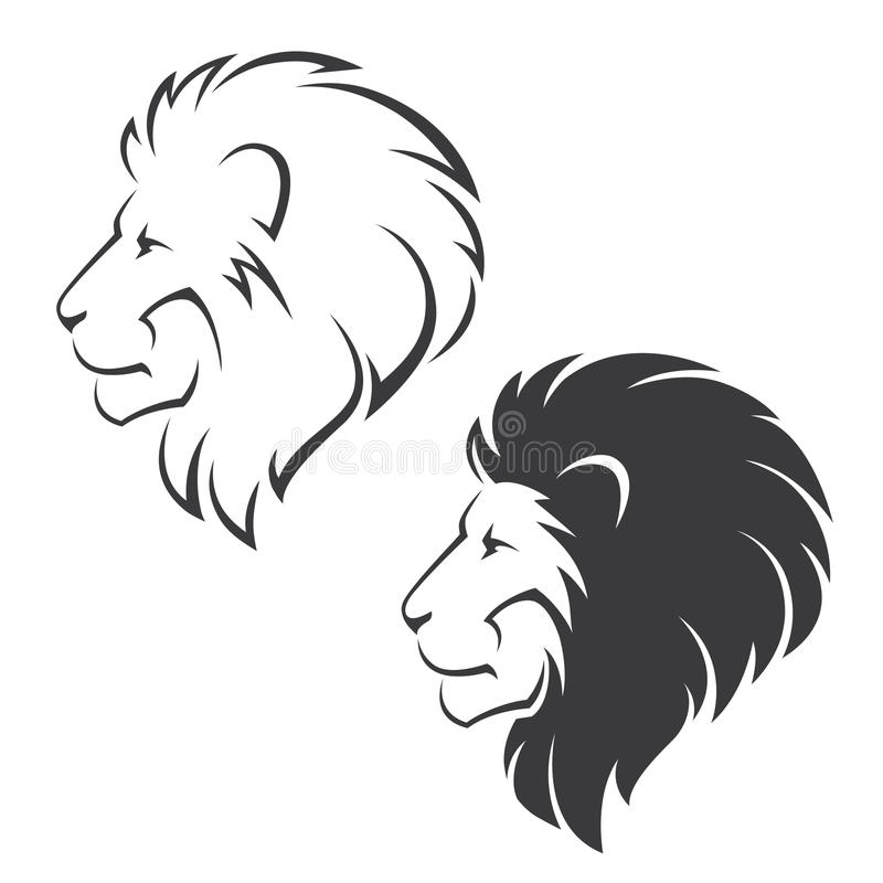 Επικεφαλής σύμβολο λιονταριών διανυσματική απεικόνιση