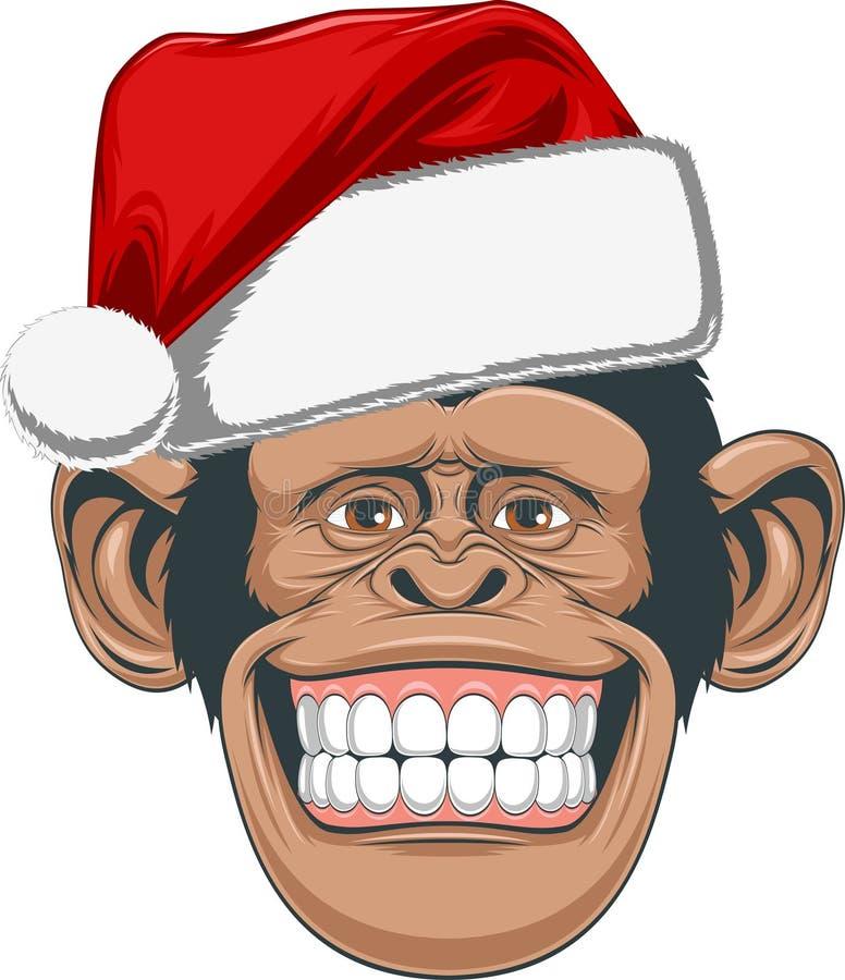 Επικεφαλής χιμπατζής σε μια ΚΑΠ ελεύθερη απεικόνιση δικαιώματος