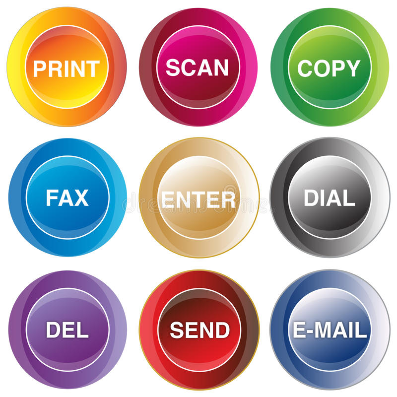 επικοινωνία κουμπιών διανυσματική απεικόνιση