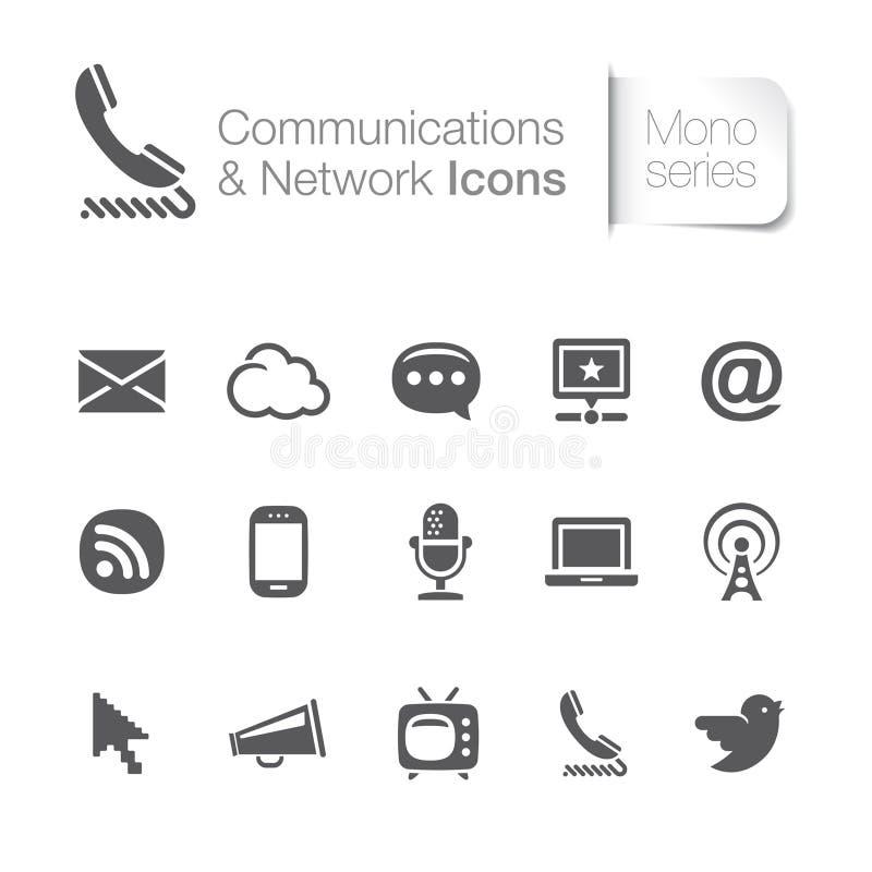 Επικοινωνία & σχετικά με το δίκτυο εικονίδια διανυσματική απεικόνιση