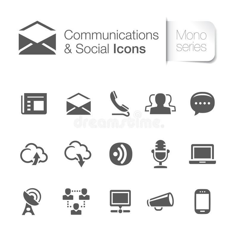 Επικοινωνία & σχετικά με το δίκτυο εικονίδια ελεύθερη απεικόνιση δικαιώματος