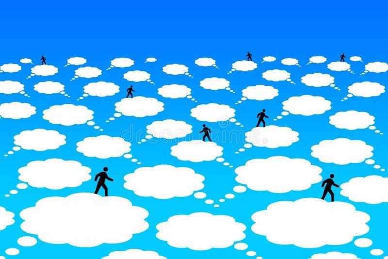 Επικοινωνία σύννεφων απεικόνιση αποθεμάτων