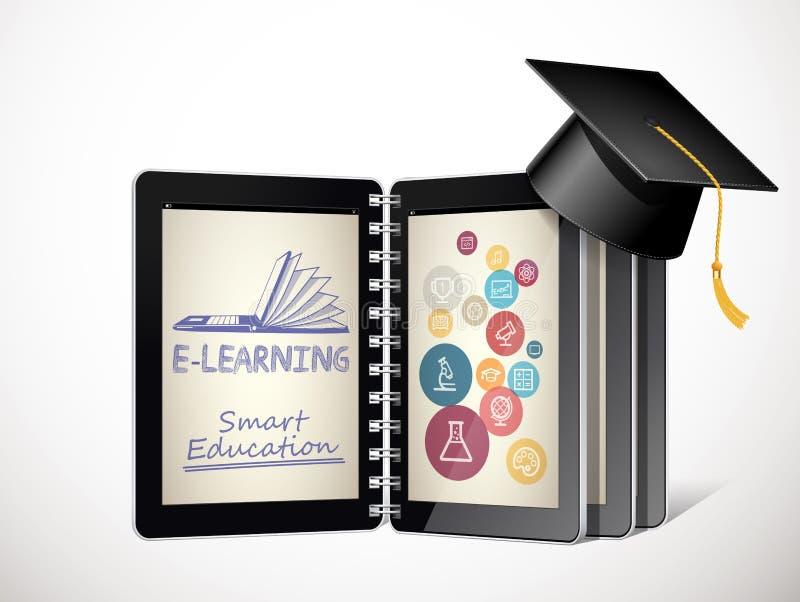 Επικοινωνία ΤΠ - έννοια ε-εκμάθησης - δίκτυο Ίντερνετ ως βάση γνώσεων ελεύθερη απεικόνιση δικαιώματος