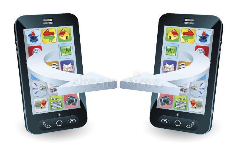 επικοινωνία smartphones ελεύθερη απεικόνιση δικαιώματος
