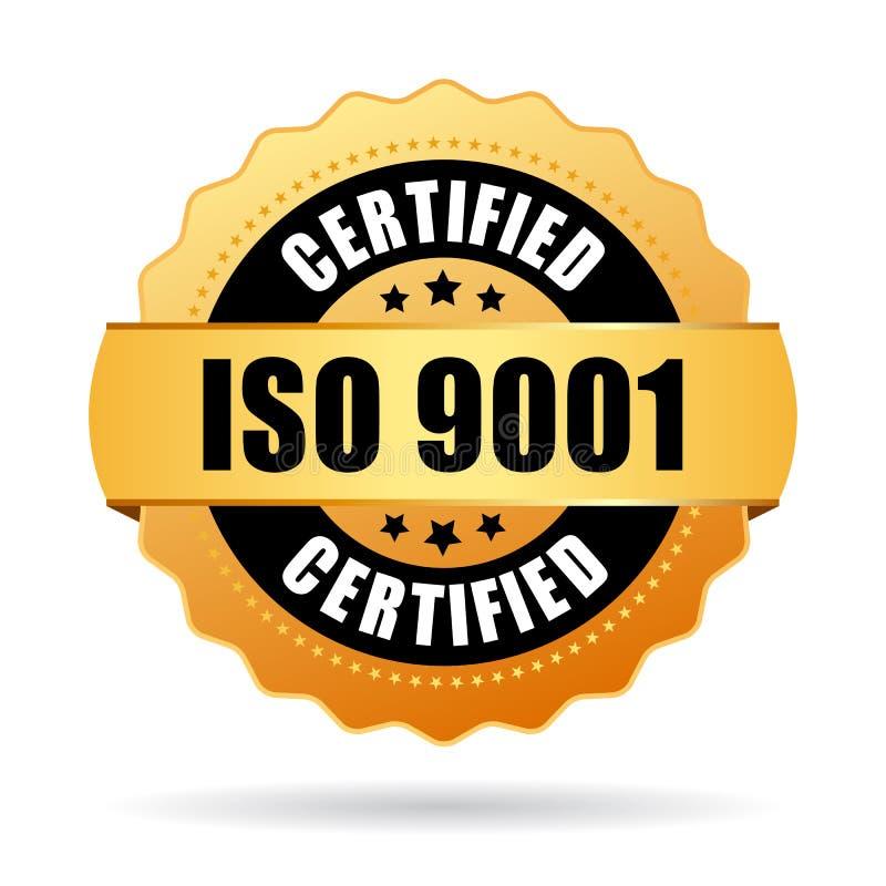 Επικυρωμένο εικονίδιο του ISO 9001 ελεύθερη απεικόνιση δικαιώματος