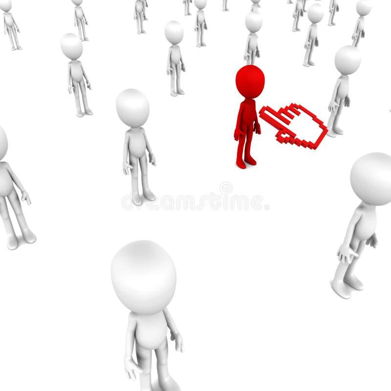 Επιλέξτε ένα άτομο διανυσματική απεικόνιση