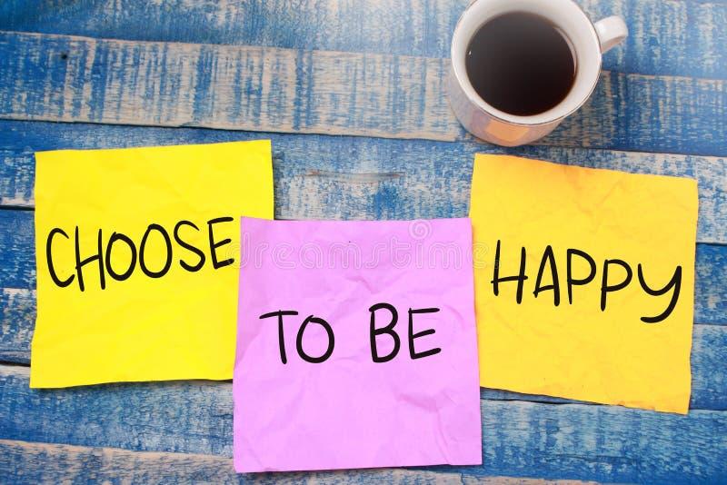 Επιλέξτε να είστε ευτυχής στοκ φωτογραφία με δικαίωμα ελεύθερης χρήσης