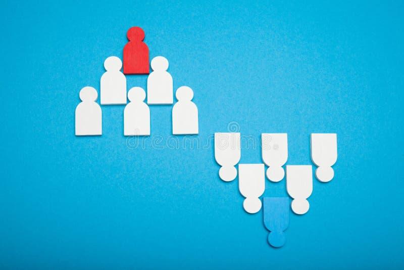 Επιλέξτε την έννοια ομάδας και ομάδων Η αναζήτηση και επιλέγει τον εταιρικό υποψήφιο Απασχόληση στοκ φωτογραφία