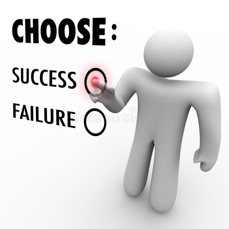 επιλέξτε την αφή επιτυχίας διανυσματική απεικόνιση