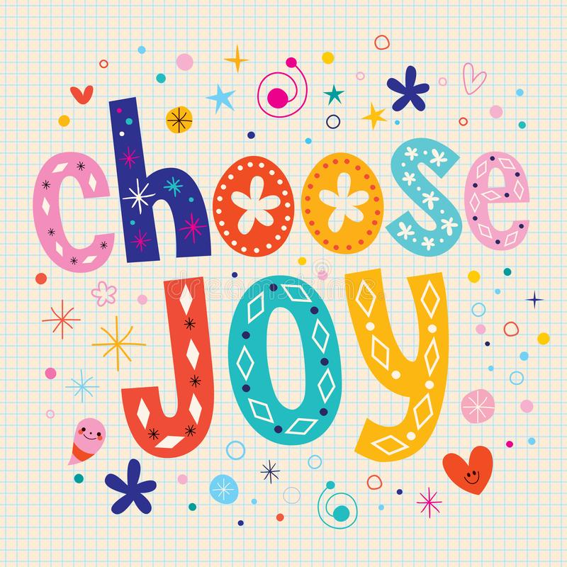 Επιλέξτε τη χαρά διανυσματική απεικόνιση