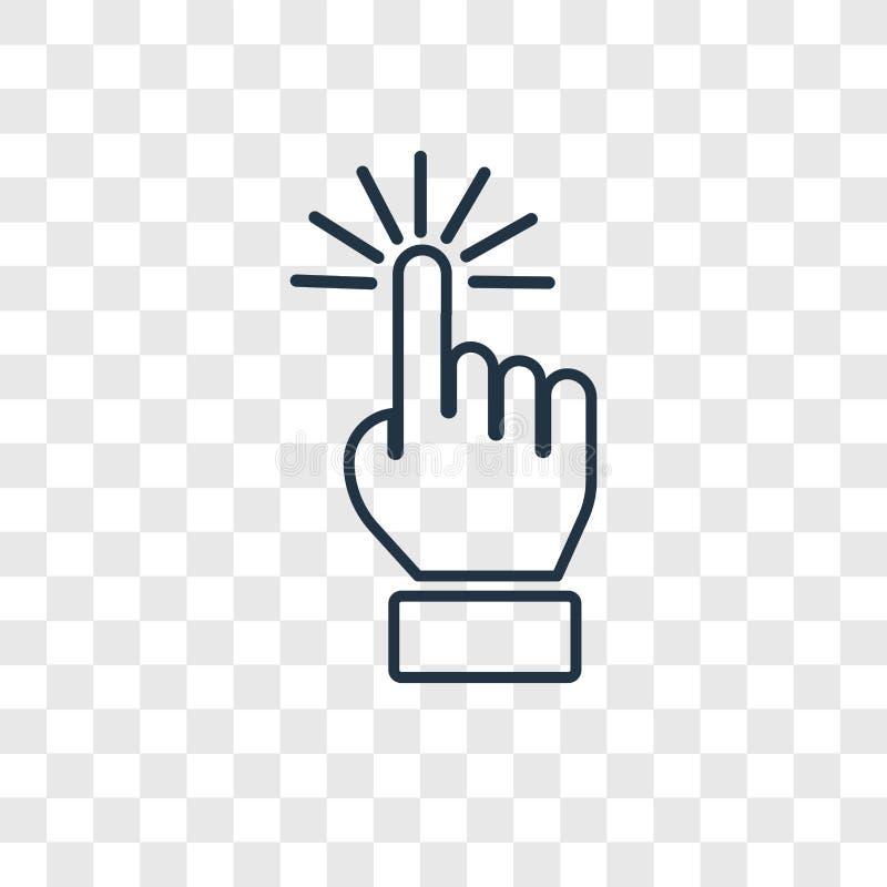Επιλέξτε το διανυσματικό γραμμικό εικονίδιο έννοιας που απομονώνεται στο διαφανές backgr απεικόνιση αποθεμάτων