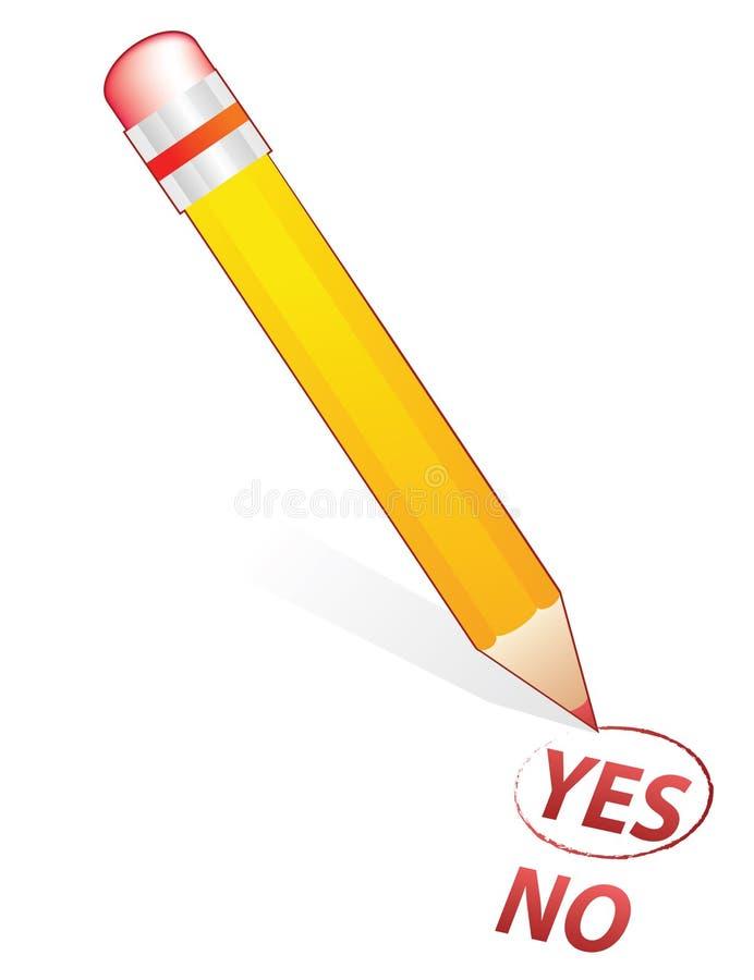επιλέξτε το μολύβι ελεύθερη απεικόνιση δικαιώματος