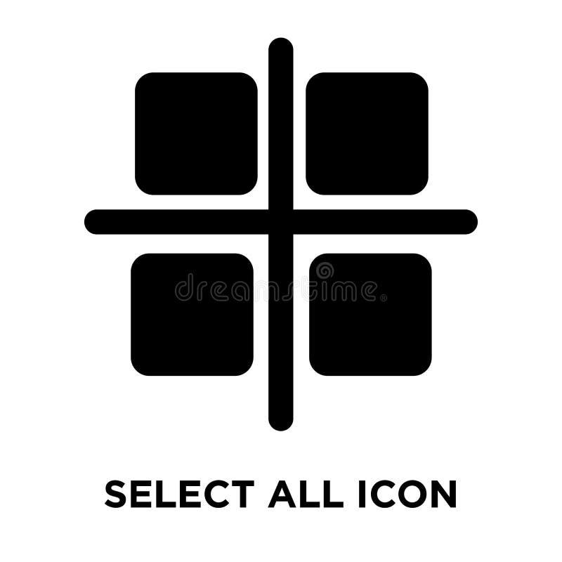 Επιλέξτε όλο το διάνυσμα εικονιδίων που απομονώνεται στο άσπρο υπόβαθρο, λογότυπο concep ελεύθερη απεικόνιση δικαιώματος