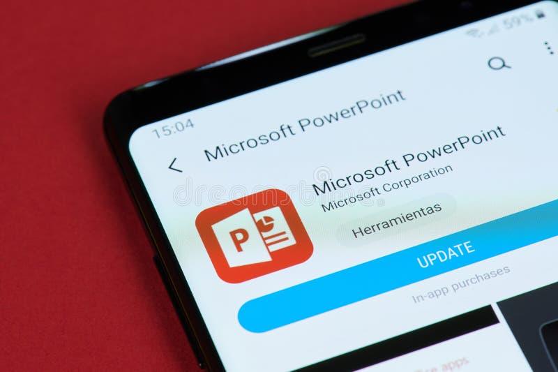 Επιλογές της Microsoft PowerPoint αναπροσαρμογών στοκ φωτογραφίες