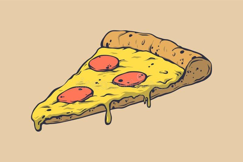 Επιλογές τροφίμων πιτσών για το εστιατόριο και τον καφέ Πρότυπο σχεδίου με τα hand-drawn γραφικά στοιχεία στο ύφος doodle Αγαθό γ ελεύθερη απεικόνιση δικαιώματος