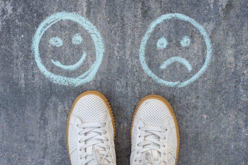 Επιλογή - ευτυχές Smileys ή δυστυχισμένος στοκ φωτογραφίες