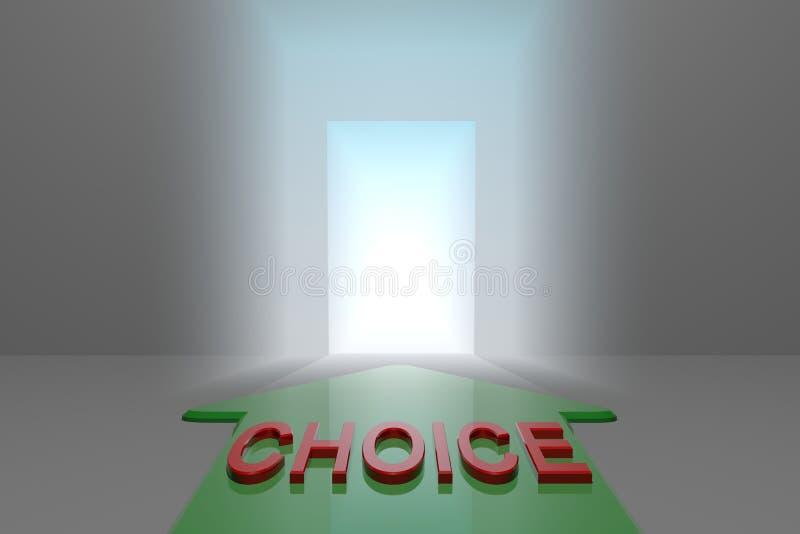 Επιλογή στην ανοικτή πύλη ελεύθερη απεικόνιση δικαιώματος