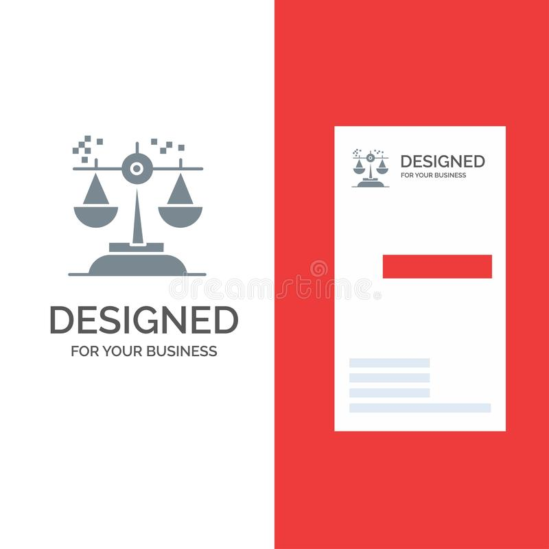 Επιλογή, συμπέρασμα, δικαστήριο, κρίση, γκρίζο σχέδιο λογότυπων νόμου και πρότυπο επαγγελματικών καρτών απεικόνιση αποθεμάτων