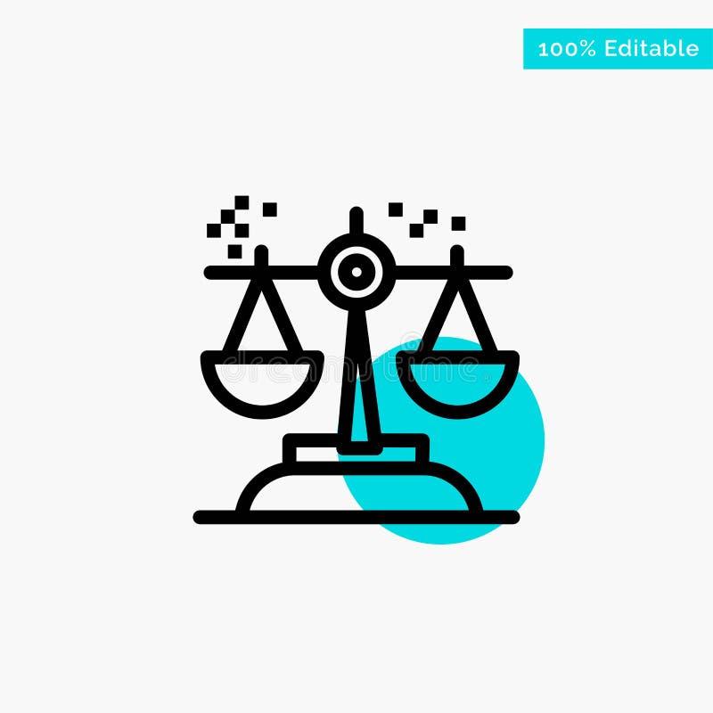 Επιλογή, συμπέρασμα, δικαστήριο, κρίση, διανυσματικό εικονίδιο σημείου κυριώτερων κύκλων νόμου τυρκουάζ διανυσματική απεικόνιση