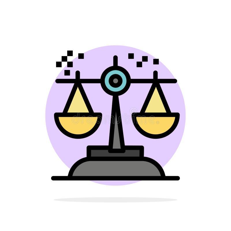Επιλογή, συμπέρασμα, δικαστήριο, κρίση, νόμου αφηρημένο κύκλων εικονίδιο χρώματος υποβάθρου επίπεδο απεικόνιση αποθεμάτων