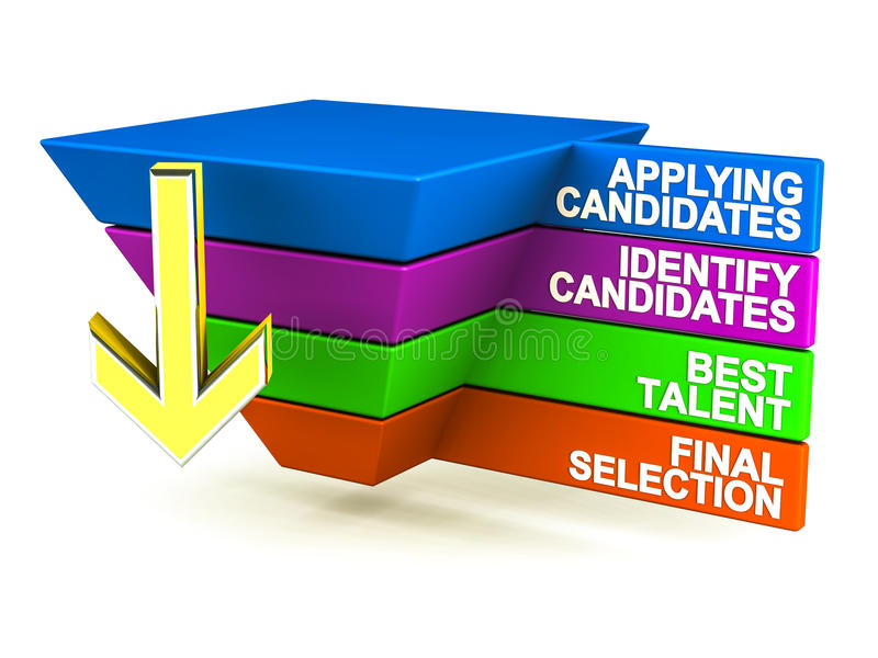 Επιλογή συνέντευξης εργασίας διανυσματική απεικόνιση