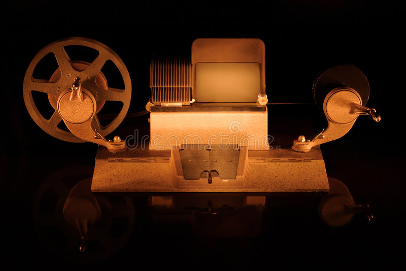 επιμεμένος τη μηχανή ταινιών στοκ φωτογραφίες