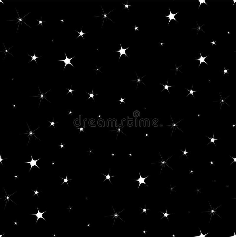 ΕΠΙΠΕΔΟ άνευ ραφής υπόβαθρο με τα αστέρια σε έναν σκούρο μπλε ουρανό στη νύχτα ελεύθερη απεικόνιση δικαιώματος