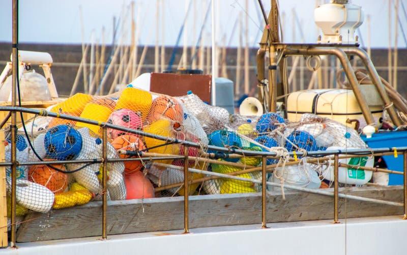 Επιπλέοντα σώματα αλιευτικών σκαφών στοκ εικόνες με δικαίωμα ελεύθερης χρήσης