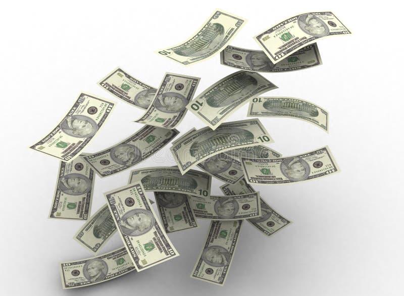 επιπλέοντα χρήματα διανυσματική απεικόνιση