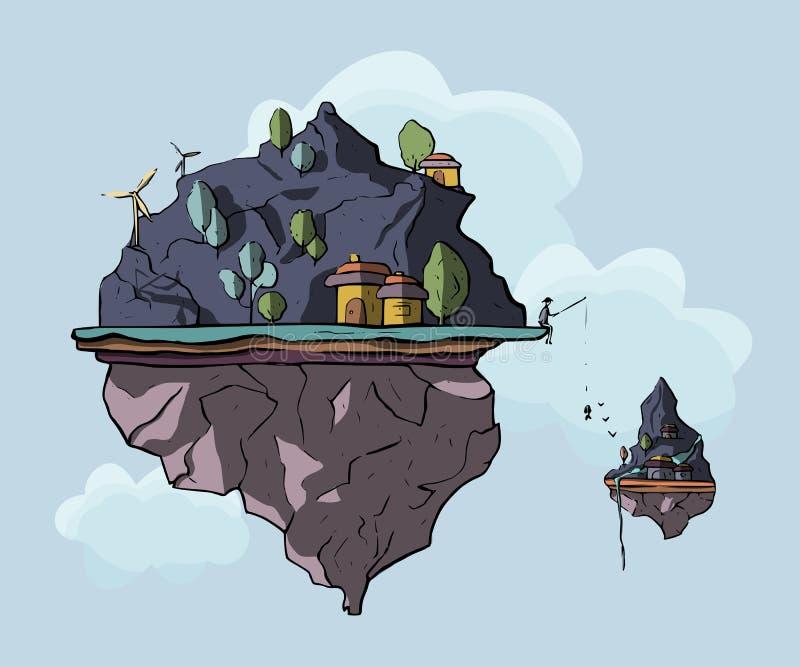 Επιπλέον νησί, τρισδιάστατο, διάνυσμα ελεύθερη απεικόνιση δικαιώματος