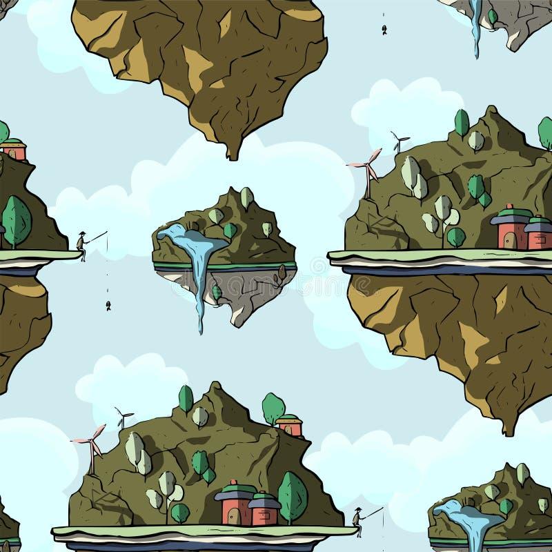 Επιπλέον νησί, τρισδιάστατο, διάνυσμα απεικόνιση αποθεμάτων