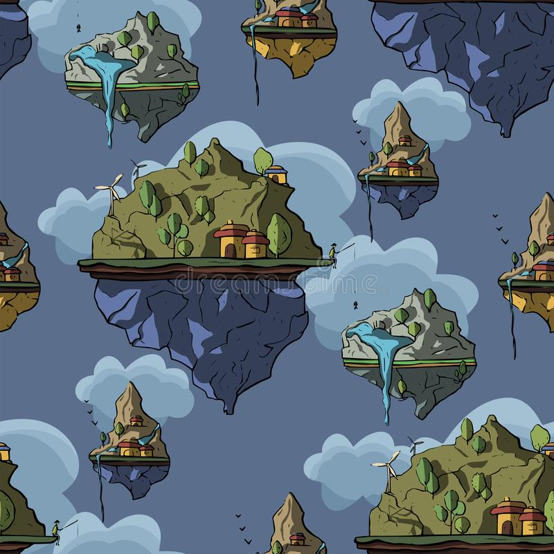 Επιπλέον νησί, τρισδιάστατο, διάνυσμα διανυσματική απεικόνιση