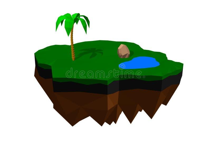 Επιπλέον νησί o r διανυσματική απεικόνιση