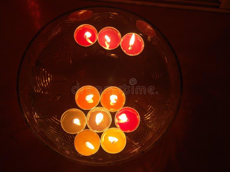 Επιπλέοντα κεριά SPA στοκ εικόνες