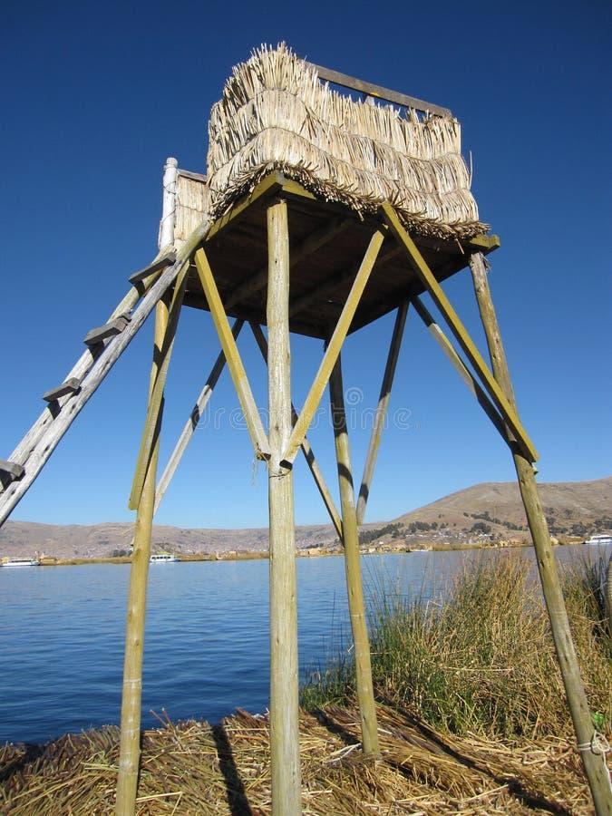Επιπλέοντα νησιά Uros σε Peru& x27 λίμνη Titicaca του s στοκ φωτογραφία με δικαίωμα ελεύθερης χρήσης