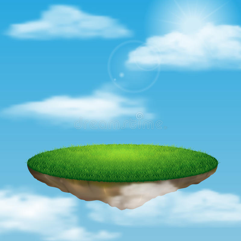Επιπλέον νησί στον ουρανό ελεύθερη απεικόνιση δικαιώματος