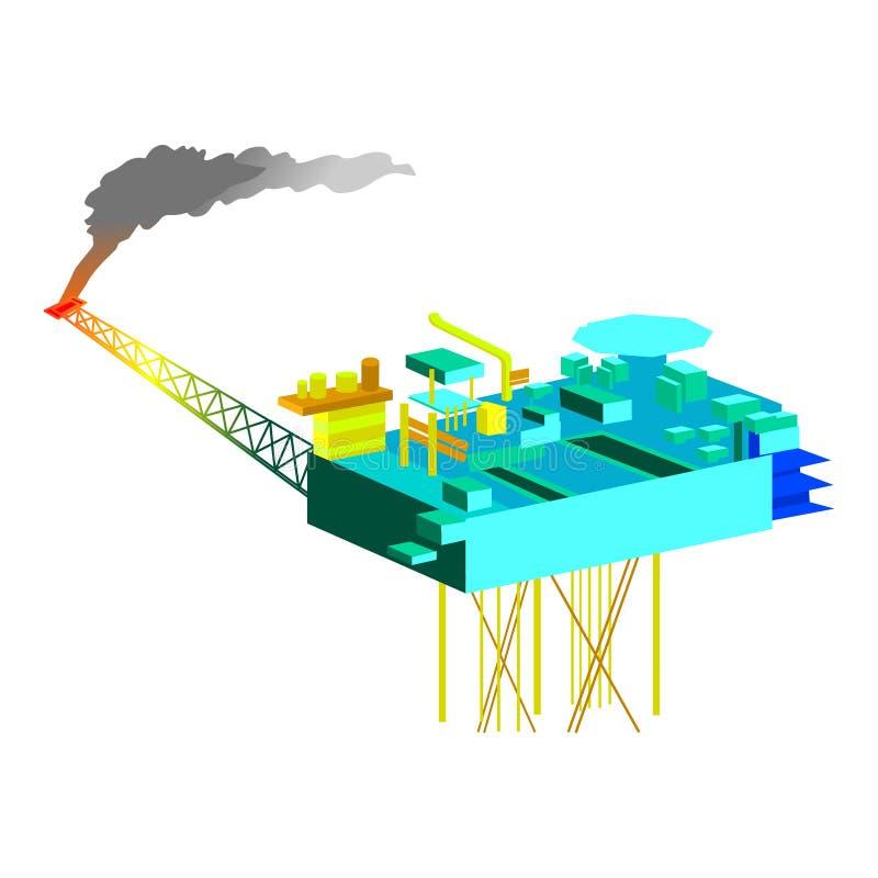επιπλέων νέος θαλάσσιος λιμένας εκβάθυνσης γερανών απεικόνιση αποθεμάτων